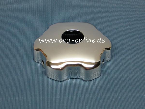 B18/B20: Kappe für Öleinfülldeckel mit Schlauchanschluss, verchromt